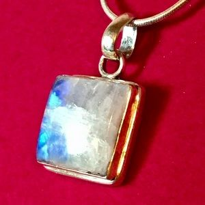 Sterling Moonstone Necklace